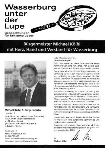Lupe, Dezember 2007, mit Herz, Hand und ... - SPD-Wasserburg
