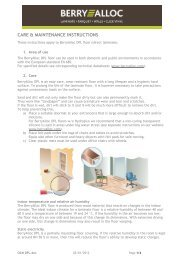 CARE & MAINTENANCE INSTRUCTIONS - Bjoorn