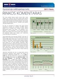 Gyvenamojo NT rinkos komentaras 2011 m. I ketv. - Ober-Haus