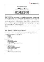 SAP BW in der Praxis - Anmeldung