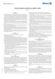 Všeobecné pojistné podmínky pro pojištění zásilek - Geis CZ