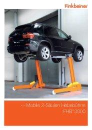 Mobile 2-Säulen Hebebühne FHB® 3000