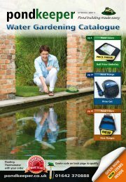 Water Gardening Catalogue - Pond Liners