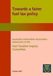 Towards a fairer fuel tax policy - Australian Automobile Association