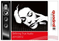 HiFi / Surround Speakers - Quadral GB & Ireland.