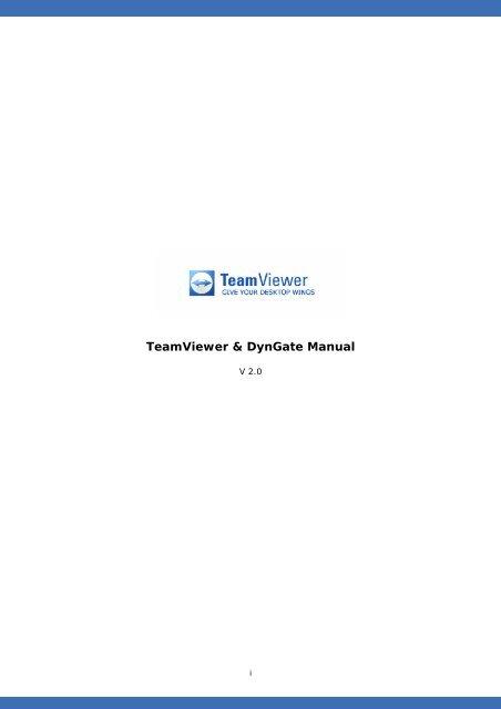 Manual Version 2 x - Teamviewer