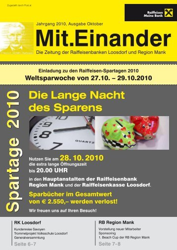 Bausparen - it's so easy! Die neue ... - Raiffeisenbank Region Mank