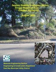 Dingee Reservoir Final Seismic Report - East Bay Municipal Utility ...