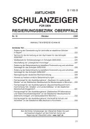 Amtlicher Schulanzeiger für den ... - Regierung der Oberpfalz - Bayern