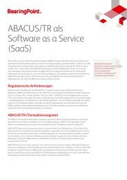 ABACUS/TR als Software as a Service (SaaS) - BearingPoint ToolBox