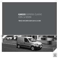 KANGOO EXPRESS CLASSIC COOL & SOUND - Renault