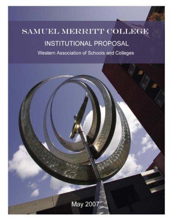 Institutional Proposal - Samuel Merritt University