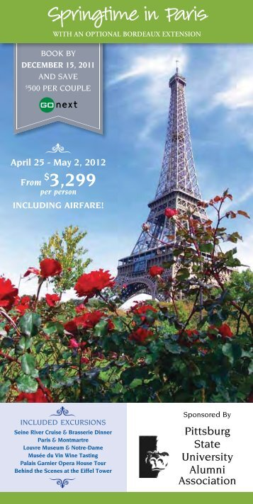 Springtime in Paris - Pittsburg State University