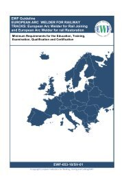EWF Guideline EUROPEAN ARC WELDER FOR RAILWAY TRACKS