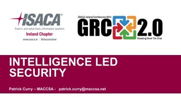 Intelligence Led Security - Patrick Curry