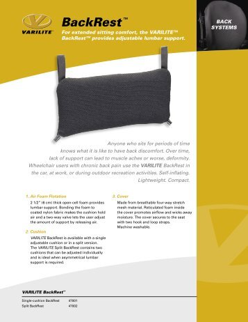 BackRest Brochure.ind - Sportaid