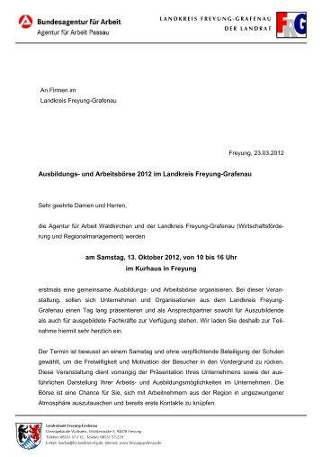 und Arbeitsbörse 2012 im Landkreis Freyung-Grafenau am ...