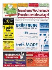 Werbung - die besten Tipps für die Peuerbacher Messetage