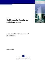 Elektronische Signaturen im E-Government