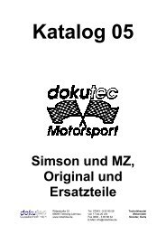 Simson und MZ, Original und Ersatzteile - mfv.info