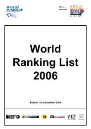 World-Ranking-List for Men