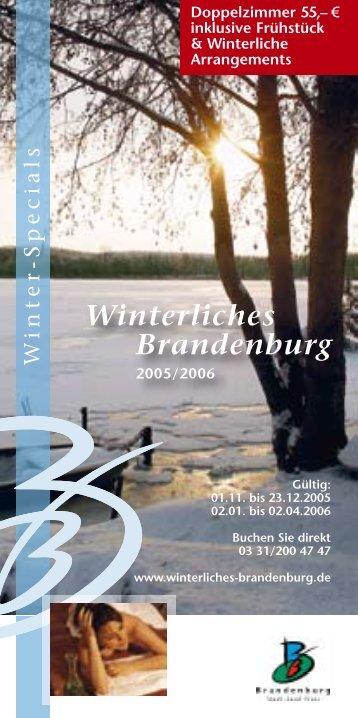 Winterliches Brandenburg - Reiseland Brandenburg