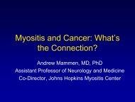 Cancer and Myositis - TMA - The Myositis Association