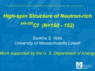 Presentation - Nuclear Structure 2012 (NS12)