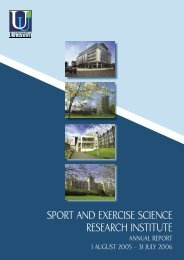 SPORT AND EXERCISE SCIENCE BKLT.indd - Research