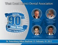Annual Meeting Brochure - West Coast Dental Association
