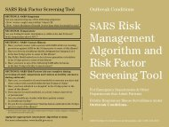 Management Algorithm and Risk Factor Screening Tool