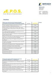 Checkliste (PDF, 618 KB) - Matusch GmbH
