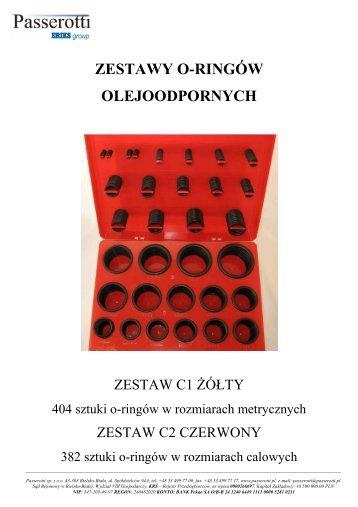 zestawy oringów 2011 - Passerotti sp. z oo
