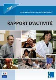 Téléchargez le rapport d'activité 2009 - Injep