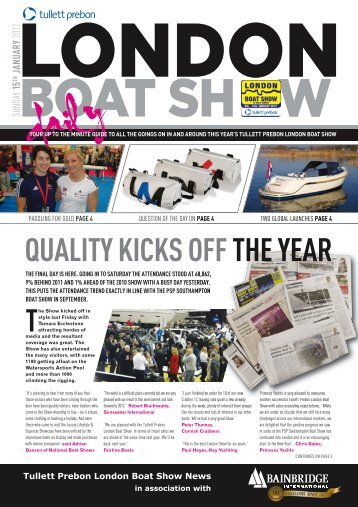 QUALITY KICKS OFF THE YEAR - London Boat Show