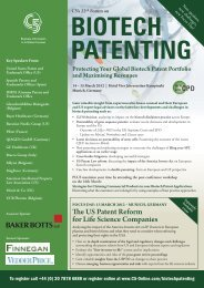 The US Patent Reform for Life Science Companies - C5