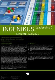 INGENIKUSTM - game solution ag