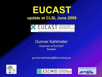 EUCAST presentation, CLSI, Boston, July 2009.