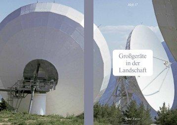 Großgeräte in der Landschaft - René Furer Architektur Hefte