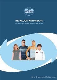 RICHLOOK KNITWEARS new trends in the global fashion