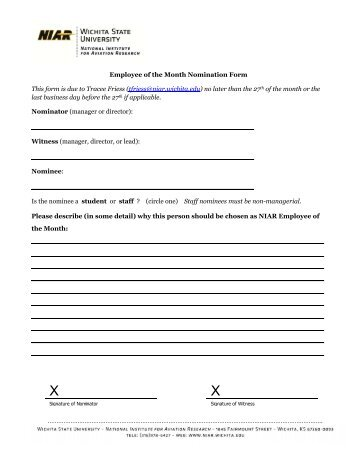 Employee of the Month Nomination Form - Lifetime Assistance