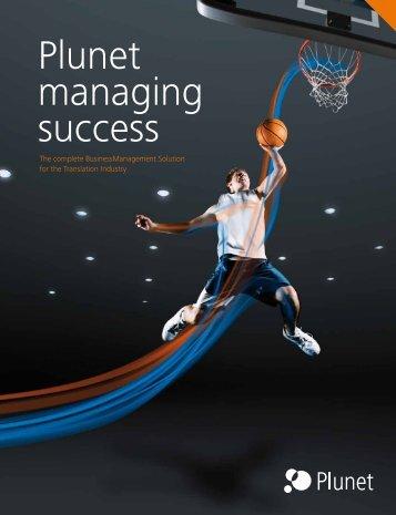 Management Solution - Plunet BusinessManager