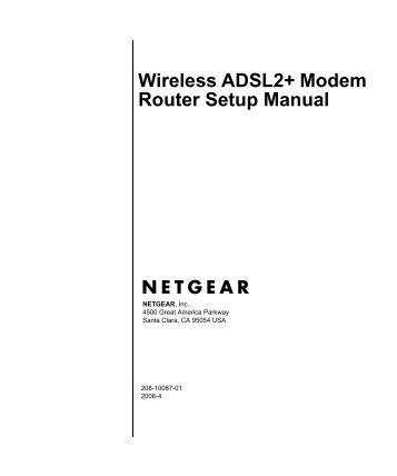 netgear wireless router configuration pdf