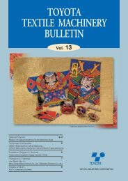 TOYOTA TEXTILE MACHINERY BULLETIN Vol. 13