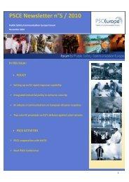 PSCE Newsletter n°5 / 2010 - KoKom