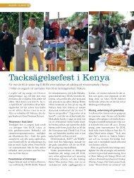 Tacksägelsefest i Kenya - Till Liv