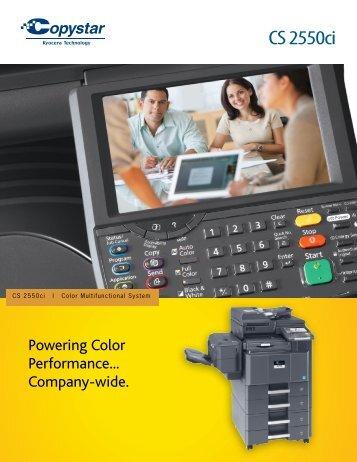 CS 2550ci - ETC copiers