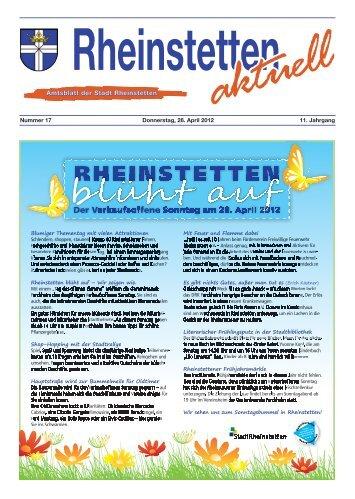 Der Verkaufsoffene Sonntag am 29. April 2012 - Stadt Rheinstetten