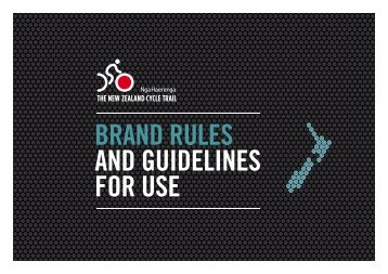 NZ Cycle Trail brand rules and guidelines [1 MB PDF]