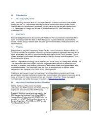 WIPP Hazardous Waste Facility Permit - Waste Isolation Pilot Plant ...